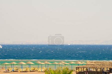 Beautiful view of the sea from the Egyptian hotel