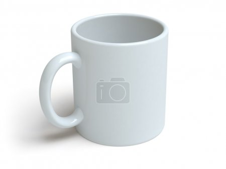 Photo for Mug on a white surface - Royalty Free Image