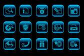 Internet icons Quiet dark blue Series