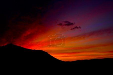 Photo pour Image coucher de soleil couleur magnifique de la vallée de la mort - image libre de droit