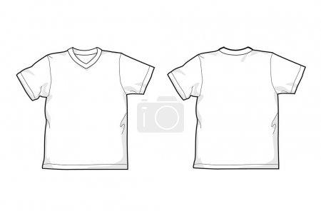 T-shirt, V