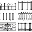 Black and white wrought iron modular railings and ...