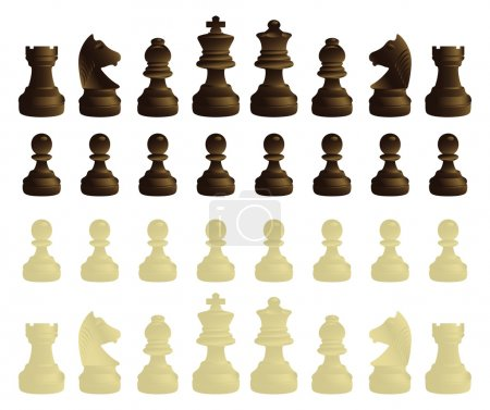 Coloured chessmen