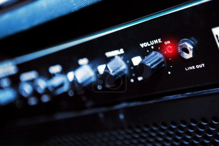Photo for Close-up of a control panel on a guitar amp - Royalty Free Image