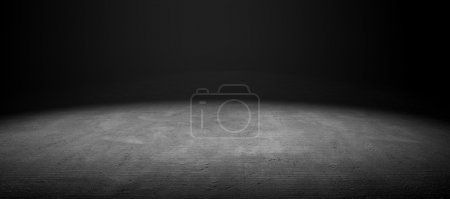 Photo for 3d image of cement floor with dramatize light - Royalty Free Image