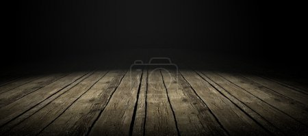 Photo for Detail of wood floor with dramatize ligth - Royalty Free Image