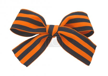 Saint George ribbon tie in a bow...