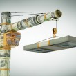 The monetary crane, Builds business (with path)...