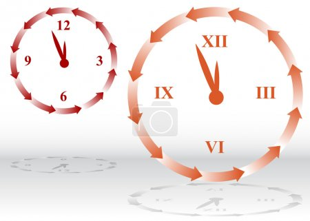An image of a clock going backwards....