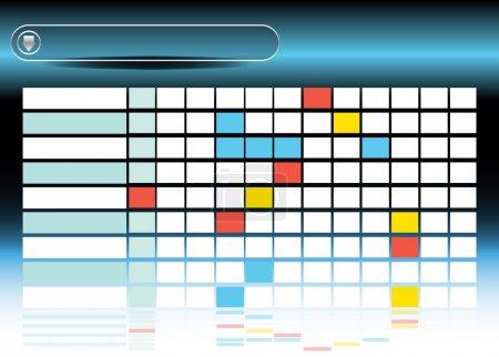 Illustration pour Une image d'un diagramme de processus. - image libre de droit
