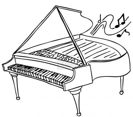 Illustration pour Une image d'un piano. - image libre de droit