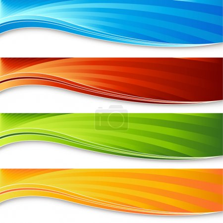 Photo for An image of a colorful banner set. - Royalty Free Image