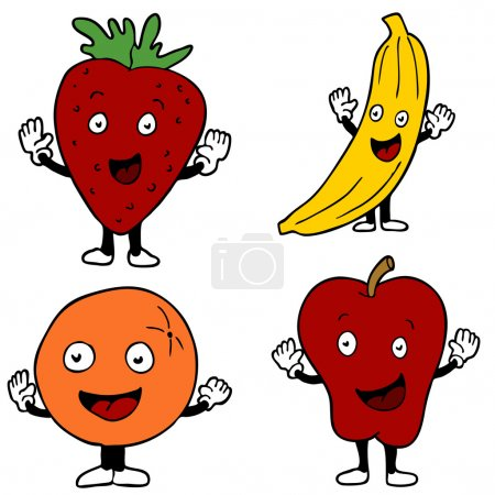Fruit Cartoon Characters