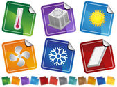 Air Conditioning Sticker Icons