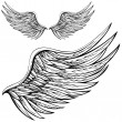 Cartoon wings in black and white....