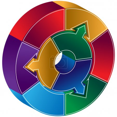 Process Circle Diagram - Arrows