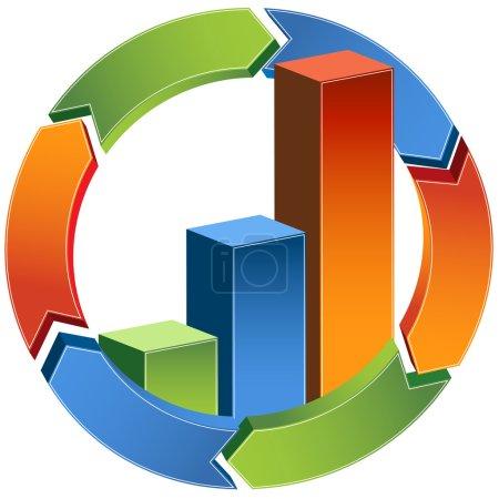 Process Bar Graph - 3D