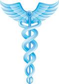 An image of a caduceus medical symbol