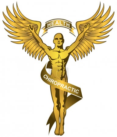 Chiropractic Symbol - Gold