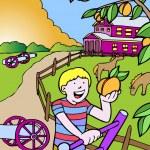 Постер, плакат: Kid Adventures: Picking Peaches in Georgia
