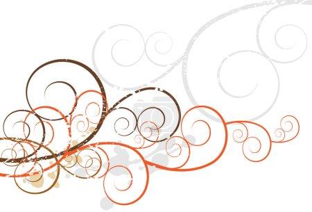 Illustration for Background design element of artsy swirls. - Royalty Free Image
