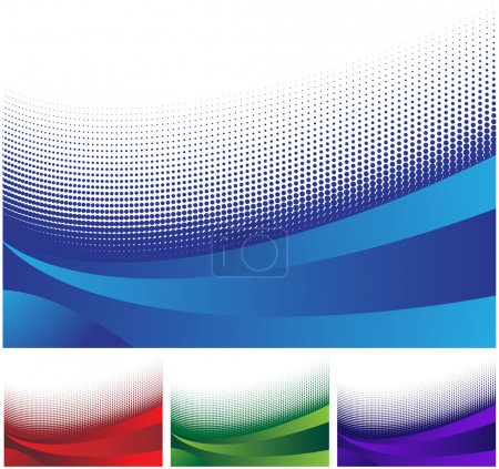 Illustration for Set of colorful banners with multiple wave pattern. - Royalty Free Image