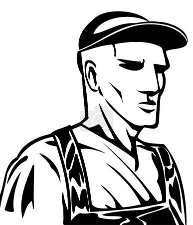 Illustration pour Un homme fort et travailleur . - image libre de droit
