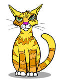 Cartoon image of a cat posing