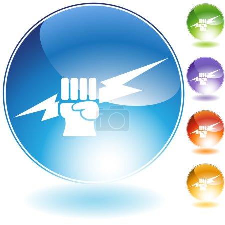 Lightning Fist Crystal Icon
