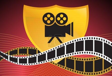 Movie Background: Film Slate Reel