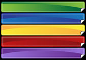 Set of 5 multi-colored banner sets with peeled edge
