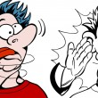 Cartoon image of a man being slapped silly - both ...
