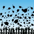 An image of students graduating.