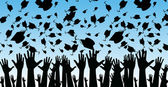 An image of students graduating