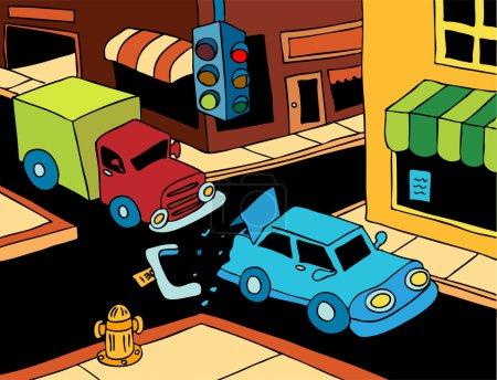 Car Crash - Sunny Day