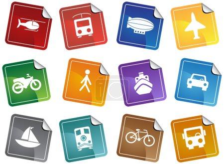 Transportation Buttons - Sticker