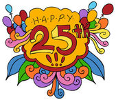 Happy 25th Design Element