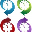 Spinning Clock icon set isolated on a white backgr...