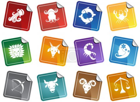 Illustration for An image of the 12 zodiac symbols. - Royalty Free Image