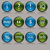 Shiny Round Text Messaging Symbol Buttons