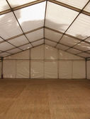 Inside a marquee